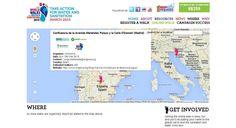 """La marcha del agua del 15 de marzo de 2015 en el mapa de la iniciativa internacional """"The World Walks for Water & Sanitation"""""""