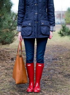 Hunter Rubber Boots And Shiny Leggings Hunter Boots