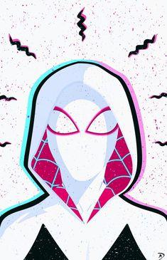 Gwen - Spider-Man, Into the Spider-Verse - Amazing Spiderman, Spiderman And Gwen, Black Spiderman, Spiderman Spider, Spider Gwen, Marvel Avengers, Marvel Girls, Marvel Art, Marvel Heroes