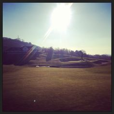 View of the 18th 2010 course at Celtic Manor