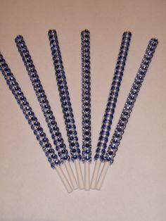 Dark Blue Bling / Glam Cake Pop Sticks by Simply Fab & Chic