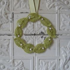 Ravelry: Knitted Wreath pattern by Julie Weisenberger