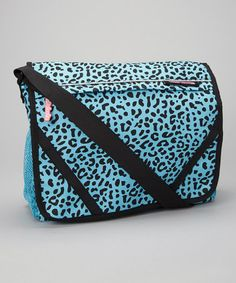 Love this Turquoise Leopard Messenger Bag by Cutie Patootie on #zulily! #zulilyfinds