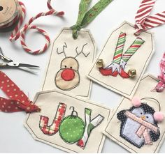 Octobertraci fabric holiday tags via Instagram