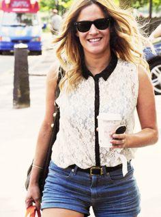 Like her style Caroline Flack, Fashion Idol, My Wardrobe, Girl Crushes, Her Style, Celebrity Style, Vest, Denim, Random