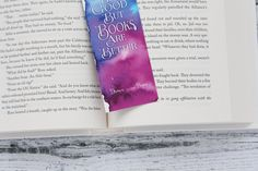 Bookmark, Inspirational quote, Books are better,
