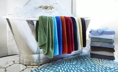 Abyss Super Line Egyptian Cotton Towels are so luxurious you'll want one in every color.