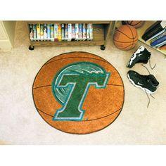 Tulane Green Wave Basketball Round Floor Mat (29)