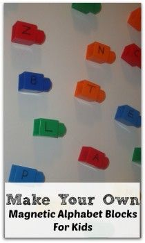 DIY Magnetic Alphabet Blocks (from Discover Explore Learn)