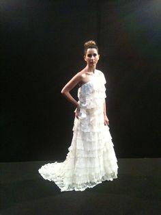 Hand Made Wedding dress Gemelle Donato. Italian style.