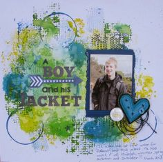 Created by Judith Armstrong using Dylusions, Kaisercraft background stamps, Charms Creations Heavenly Heart.