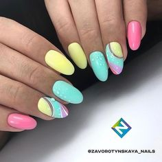 57 Nail Designs That Are So Perfect for Summer 2019 summer nails; Bright Nail Art, Bright Summer Nails, Bright Colors, Trendy Nails, Cute Nails, My Nails, Elegant Nail Designs, Cute Nail Designs, Luxury Nails