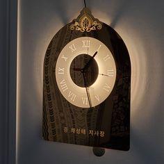 문구나 로고를 넣어 제작할수 있는 주문제작 벽시계 / 괘종시계 입니다. Clock, Space, Decor, Watch, Floor Space, Decoration, Clocks, Decorating, Deco