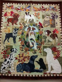 Dog quilt....beautiful!  I have the patterns for this, another bucket thing and another lifetime on top of that!