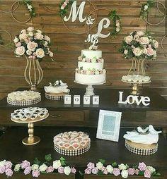 ideas decor wedding elegant bridal shower for 2019 Outdoor Bridal Showers, Elegant Bridal Shower, Elegant Wedding, Diy Wedding, Rustic Wedding, Wedding Cakes, Bridal Shower Decorations, Wedding Decorations, Wedding Candy Table