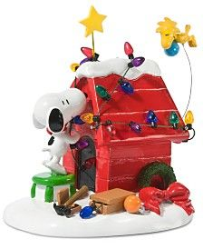 Department 56 Peanuts Village Getting Ready for Christmas Collectible Figurine