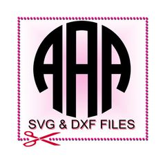 Monogram SVG File  Font Design Files For Silhouette by SVGFILE