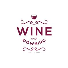 Create a captivating logo for Wine Downing by The Cotter