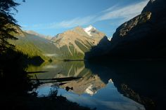 Mirror - Whitehorn peak reflecting on Kinney Lake - Mt. Robson Park