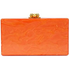 Edie Parker marbled effect clutch (€1.115) ❤ liked on Polyvore featuring bags, handbags, clutches, marble purse, orange handbags, acrylic clutches, lucite purse and edie parker handbags