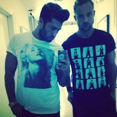 Great minds wear @Madonna Official t-shirts to #work on Saturdays @simon_says___ and I didn't plan this... #Padgram