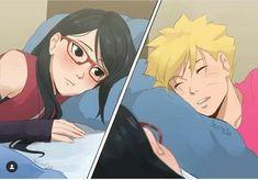 Boruto and Sarada 💕 Naruto Minato, Anime Naruto, Boruto And Sarada, Naruto Comic, Naruto Cute, Naruto Shippuden Anime, Manga Anime, Manga Art, Naruto Couples
