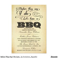 Before They Say I Do Lets Have A BBQ! - Vintage