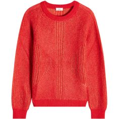 Closed Pullover ($169) ❤ liked on Polyvore featuring tops, sweaters, red, relaxed fit tops, snug top, red sweater, red pullover and red top