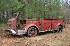 This 1951 American LaFrance 700 Series pumper was saved from the scrap yard last year by a member of the Raleigh Fire Department. Description from legeros.com. I searched for this on bing.com/images