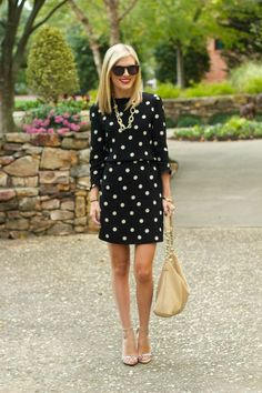 Life with Emily | a life + style blog : LBPD: Little Black Polkadot Dress