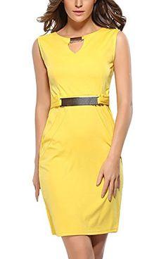 a638ba47547 Mesdames Robes Fourreau Col V Crayon Retro Chic Elegante Robes Habillées  Robes De Soirée