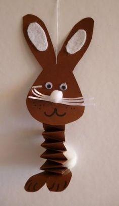 DIY velikonoční dekorace: Zajíček z papíru