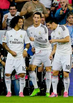 Ronaldo | Rodríguez | Marcelo dancing 5.10.2014