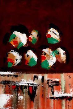 """Saatchi Art Artist CRIS ACQUA; Painting, """"22-Ventanas."""" #art"""