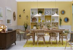 'Pastel Dining Room' by Good Homes Magazine at Ideal Home Show, London 2016 Ideal Home Show, House And Home Magazine, Home Goods, Glow, Free Tickets, London 2016, Dining Room, Table Decorations, Resorts