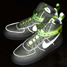 "MAGIC STICK x NIKE AIR FORCE 1 HIGH '07 QS ""VIP"" [WHITE / WHITE-VOLT-BLACK] 573967-101"