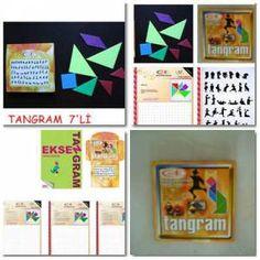 Tangram Oyunu Pls 7 Parça Şekil çizim Kitapçikli GittiGidiyor'da 230448687