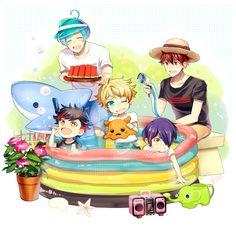 夏の流星隊家族