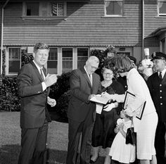 KennedyCollector — Greeted by the mayor in Newport, Rhode Island....