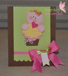 Punch art, paper craft, baby shower, baptism invitation card