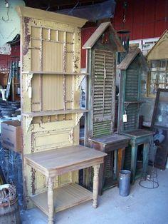 Vintage Potting Bench | Garden Art & Yard Decor Ideas...