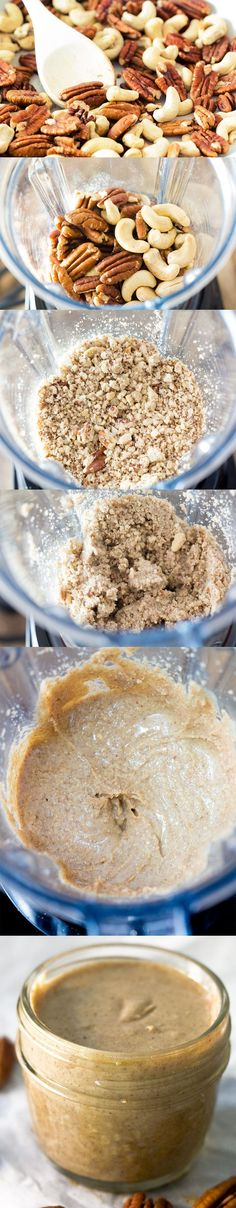 Drizzly, creamy and perfectly spreadable 90 second EASY Nut Butter made in the Vitamix. You will never go back to making nut butters in your food processor again!