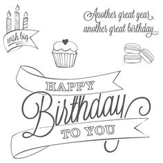 Happy Birthday! Another Great Year Another Great Birthday! | Stampin' by Genny's Blog