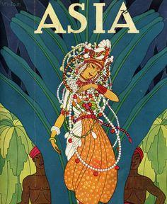 Dreamy Art Deco Magazine Covers for Asia Magazine by Frank McIntosh Magazine Cover Page, Magazine Art, Magazine Design, Graphic Design Illustration, Illustration Art, Magazine Illustration, Oriental, Art Deco Fashion, Fashion Design