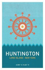 Huntington, Long Island-inspired Nautical Print. From the New York States of Mind Marketplace. Designed and made in Brentwood, NY by Empire One Studios.