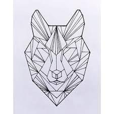 """Résultat de recherche d'images pour """"geometric wolf tattoo"""""""
