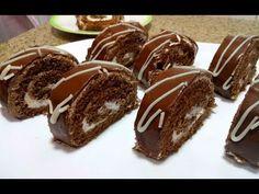 بيسكويت رولي شوكولاطة بنين و سهل و سريع - YouTube Biscuits, Muffin, Pudding, Sweets, Breakfast, Desserts, Food, Food Recipes, Crack Crackers