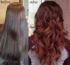 9.Dark Auburn Hair