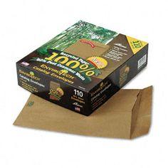 Envirotech 60Lb. Catalog Envelope, Side Seam, 9 X 12, Kraft, 110/Box