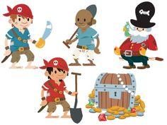Stickers enfants : Personnages Pirates